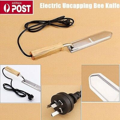 Electric Honey Bee Supply Scraping Extractor Stainless Steel Knife Beekeeping AU