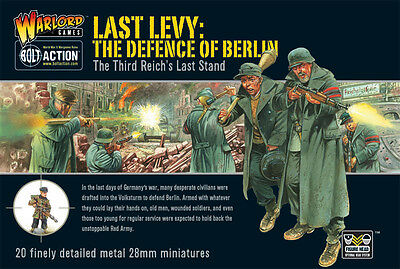 **bnib** Warlord Games Bolt Action German Last Levy The Defence Of Berlin