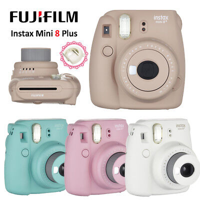 Fujifilm Instax Mini 8 Photo Film Camera Fuji Instant + Free Close-up Lens