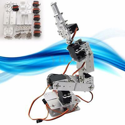 6DOF ROT2U Aluminium Robot Arm Clamp Claw Mount Kit w/ Servos For Arduino-Silver