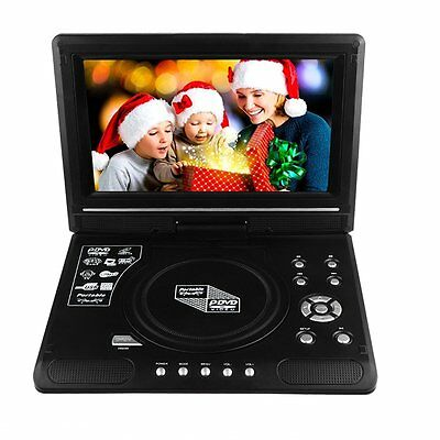 """New 9.8"""" in Portable DVD Player Rechargeable SD USB TV FM Swivel Screen Remote"""