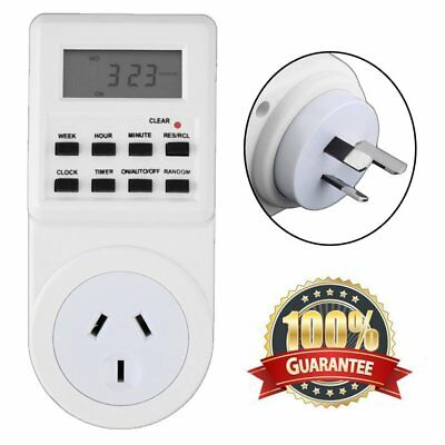 7 Day Digital Electronic LCD Plug-in 12/24 Hour Timer Switch AU Plug Socket PYRE