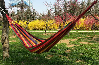 For Indoor Outdoor Use Portable Nylon Fabric Hammock Double Parachute Person