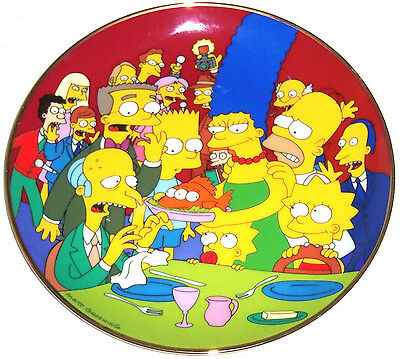 Simpsons Collector Plate Three Eyed Fish Bart Lisa Marge Homer Franklin Mint