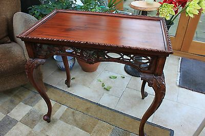 Stunning Victorian antique mahogany side table. MUST SEE