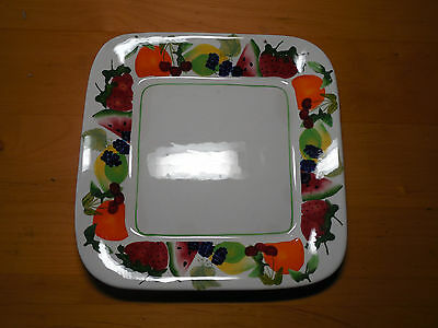 """Sonoma Life+Style FRUIT PUNCH Square Salad Plate 9 1/4"""" 1 ea     4 available"""