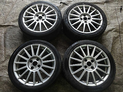 "Ford Focus ST170 Mk2 97-05 genuine 17"" alloy wheels alloys + tyres + centre caps"