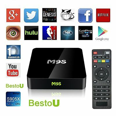 2017 New Arrivals BestoU M9S TV BOX All APP Fully Loaded Quad Core Android 6.0
