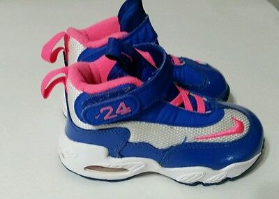c011cd6e44 Nike Air Griffey Max 1 Girls Toddler Sneakers Shoes Blue/Pink 552985-100  Size