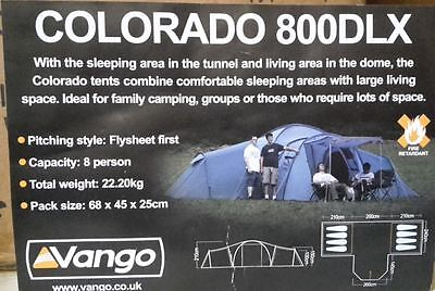 Vango  Colorado 800DLX Large Tent - Lead Azure