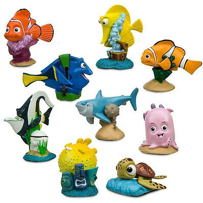 9pcs Cute Movie Finding Nemo Dory Action Figures Doll Set Kids Baby Boy Girl Toy