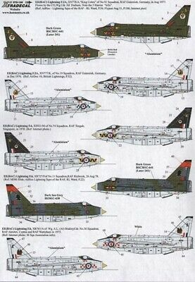 Xtradecal X72155 1/72 BAC/EE Lightning Model Decals