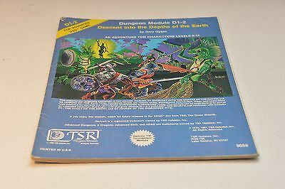 DUNGEONS & DRAGONS MODULE D1-2 Descent Into Depths of the Earth, #9059 TSR AD&D