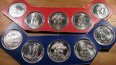 2013 P D America The Beautiful Quarter's 10 Uncirculated Mint Set Coin's