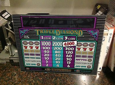 """IGT Splus Triple Diamond 3 coin 16"""" game kit with 97% payback chip"""