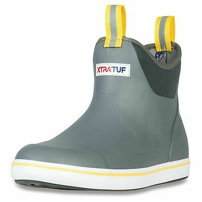 "XTRATUF Performance Series 6"" Men's Ankle Deck Boots, Gray & Yellow 22735"