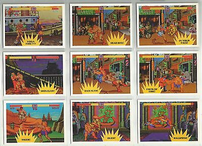 1993 Street Fighter 2 Topps Complete Base Set of 88 Cards (1-88) & 11 Stickers