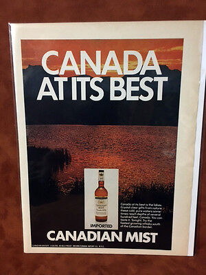 "1971 ""Canada At Its Best"" Canadian Mist Print Ad"