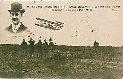 Postcard. Orville Wright.the Pioneers Of The Air.postmarked 1910