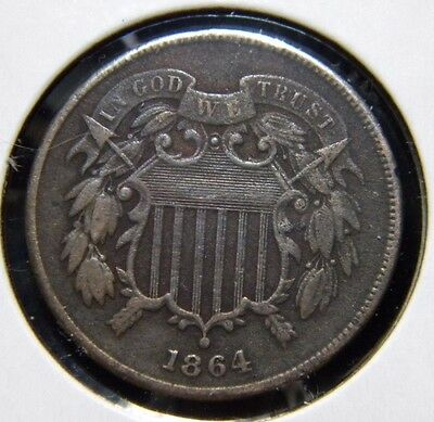 1864 TWO CENTS (2c)***VERY FINE CONDITION***F