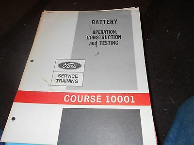 Nos 1964 - 1969 Ford Mustang Fairlane Falcon Battery Operation Service Manual