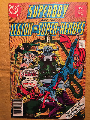 Superboy Legion Of Super-Heroes 230 Vg/fn 5.0 Graded By Seller Levitz Sherman