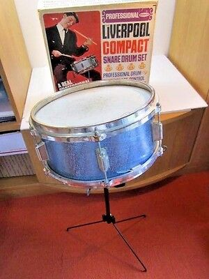 Vintage 1966 Remco Liverpool Compact Snare Drum Set In Box Very Rare 1960's