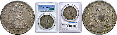 1872 Seated Liberty Dollar PCGS XF-40 CAC