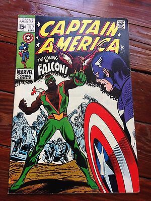 Captain America #117 September 1969 1st appearance The Falcon !