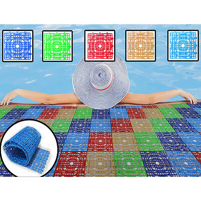Interlocking modular plastic tiles Floor non Anti-Slip Flooring mat pool matting
