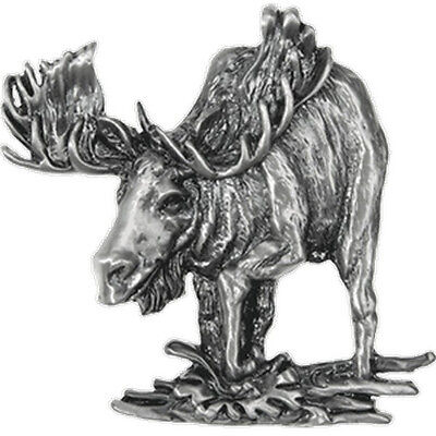Bull MOOSE Pewter Magnet NEW Detailed Majestic Animal