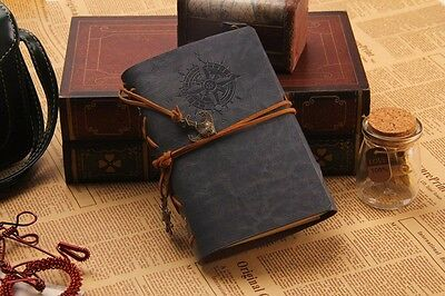Vintage Traveler Sailing Bound Diary Journal Notebook PU Leather-Iron Grey