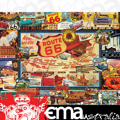 """ROUTE 66 1000 PIECE JIGSAW PUZZLE WPZ747PZ FINISHED SIZE 30"""" x 24"""""""