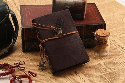 Vintage Traveler Sailing Bound Diary Journal Notebook PU Leather-Chocolate