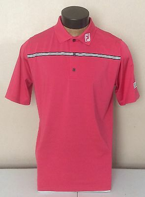 Tour Staff Issue FootJoy Titleist Patch Logo Pink Golf Polo Shirt L