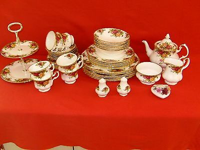 Royal Albert Old Country Rose Combined Dinner and tea set