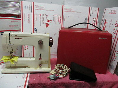 Bernina Mini Matic Sewing Machine Model 807 with Red Carry Case And foot pedal