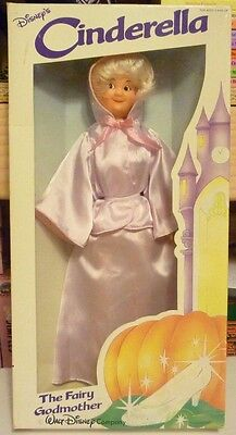 "Vintage Bikin Cinderella The Fairy Godmother 11.5"" Doll NIB"