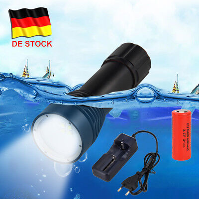 Photography Video 20000LM 4x XM-L2 Weiß LED Tauche Tauchlampe bis 100m mit 26650