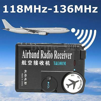 118MHz-136MHz Air Band Radio Receiver Aviation Receiver for Airport Ground