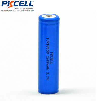 1x 18650 Li-ion Rechargeable Vape Mod Battery Genuine 2600mAh Unprotected PKCELL
