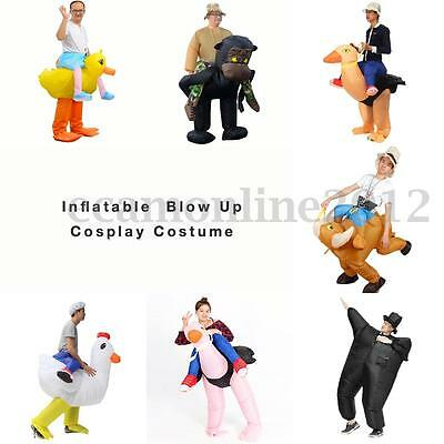 Adult Party Inflatable Costume Fancy Dress Clothes Outfit With Hat Fan Operated