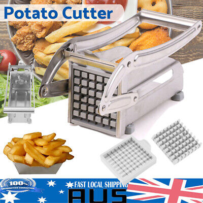 New Stainless French Fries Slicer Potato Chipper Chip Cutter Chopper Maker Tool