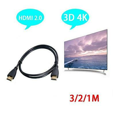 High Speed Premium Standard 2.0 HDMI Cable HD HDTV Cable Black 1M 2M 3M Black
