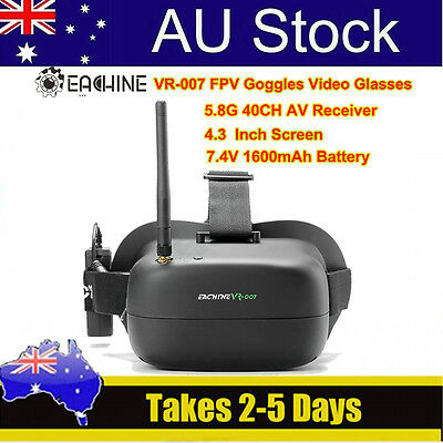 Eachine VR-007 5.8G 40CH Search Receiver FPV Goggles Glasses For RC 250 Drone