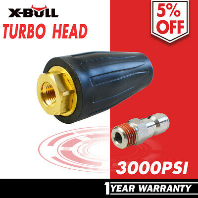 X-BULL Washer Turbo Head Nozzle for High Pressure Water Cleaner 3000PSI