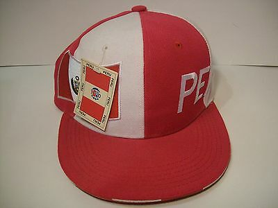 PERU COUNTRY ADJUSTABLE HAT with tags Pink South America travel souvenir CAP