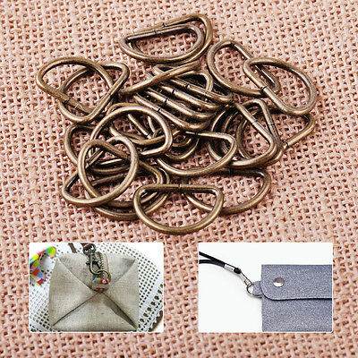 New 25x 2.5x1.6cm Metal Nickle Plated D Ring Jump Ring Connector Findings Crafts