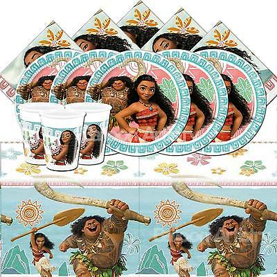 Disney's Moana Children's Birthday Tableware Party Pack Kit For 8 or 16 Guests