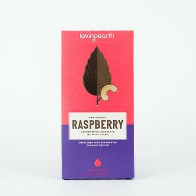 Loving Earth - Organic Raspberry Cashew Mylk Chocolate - All Sizes - Raw & Vegan